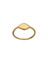 gold plated oval ring
