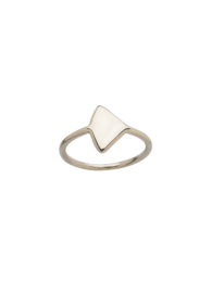 Clean white triangle
